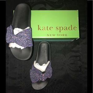 kate spade Shoes - NEW kate spade shellie glitter slide pool sandal